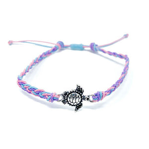 Blue Pink Turtle Charm Multi Single
