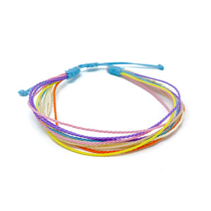 multi color string bracelet