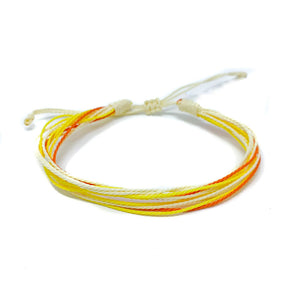 yellow orange strings bracelet