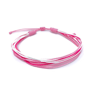 pink breast cancer awareness strings bracelets