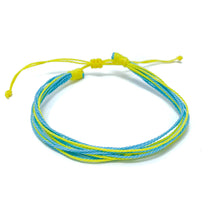 Load image into Gallery viewer, blue yellow string bracelet