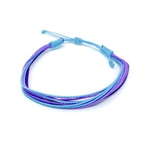 blue purple string bracelet