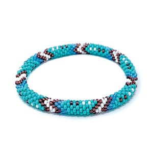 Turquoise Beaded Roll On Bracelet