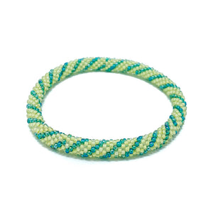 Green Beaded Roll On Bracelet