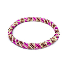 Load image into Gallery viewer, Pink Tan Beaded Roll On Bracelet