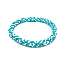 Load image into Gallery viewer, Turquoise Beaded Roll On Bracelet
