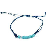 Load image into Gallery viewer, Turquoise Beaded String Beach Bracelet