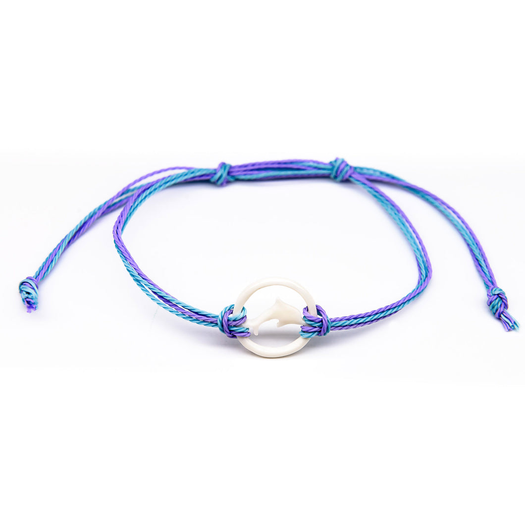 charming shark bone dolphin string bracelet