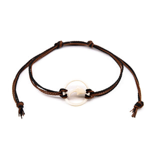 mens bone dolphin string bracelet