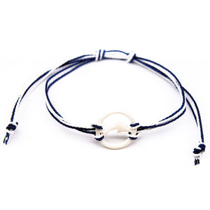 carved dolphin bone string bracelet