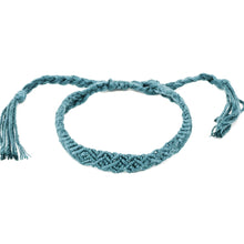Load image into Gallery viewer, steel blue braided hippie bracelet