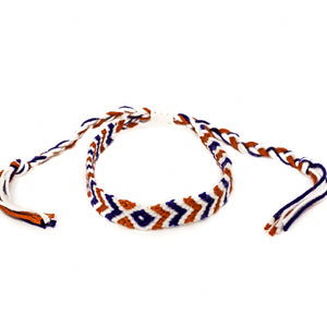 usa america colors braided colorful bracelet