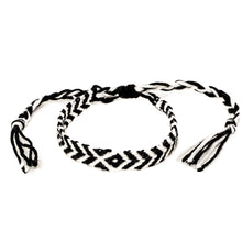 Load image into Gallery viewer, black and white braided colorful diamond woven bracelets