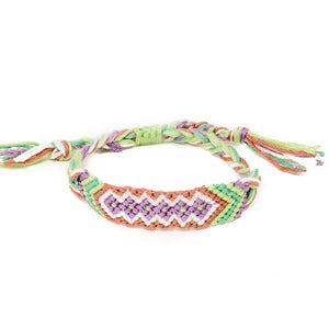 diamond pattern hippie woven bracelets