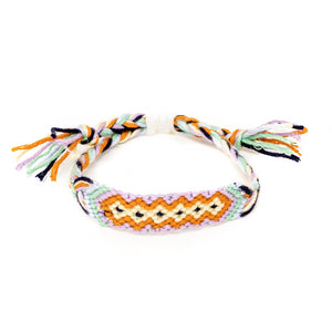 hippie diamond pattern woven braided bracelet