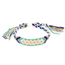 Load image into Gallery viewer, diamond pattern boho woven braided bracelet