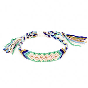 diamond pattern boho woven braided bracelet