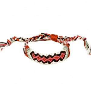 woven diamond pattern hippie braided bracelet