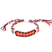 Load image into Gallery viewer, woven diamond pattern braided hippie bracelet