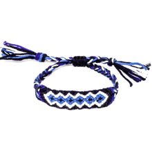 Load image into Gallery viewer, woven diamond pattern braided friendship bracelets