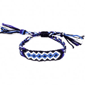 woven diamond pattern braided friendship bracelets