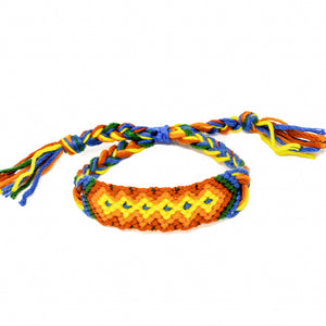 woven diamond pattern friendship bracelets