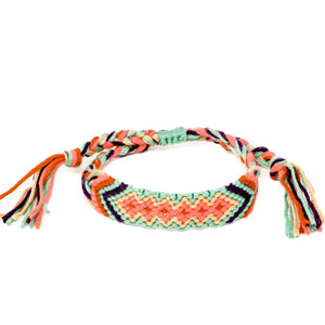 woven diamond pattern braided hippie boho bracelts