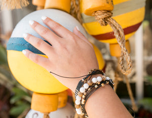 charming shark fields boho style bracelet stack