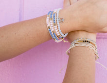 Load image into Gallery viewer, charming shark fields boho style bracelet stack