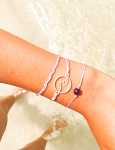charming shark string and bead wave bracelet pack