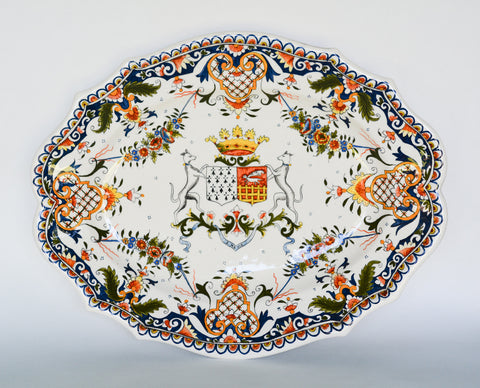 Handpainted French Rouen Platter