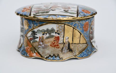 Hand Painted Porcelain Satsuma Style Box