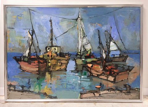 Large Mid Century Sailboats
