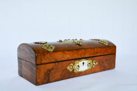 Antique Burled Wood Box