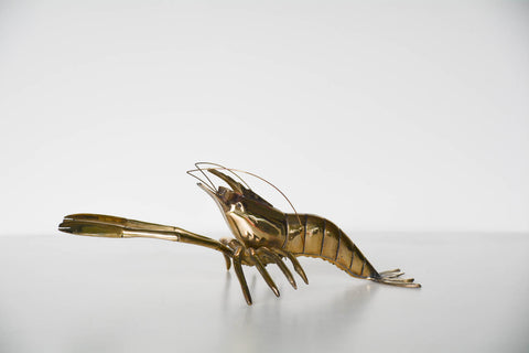 Large Vintage Brass Lobster