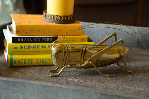 Large Vintage Brass Cricket