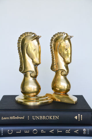 Brass Chess Knight Bookends