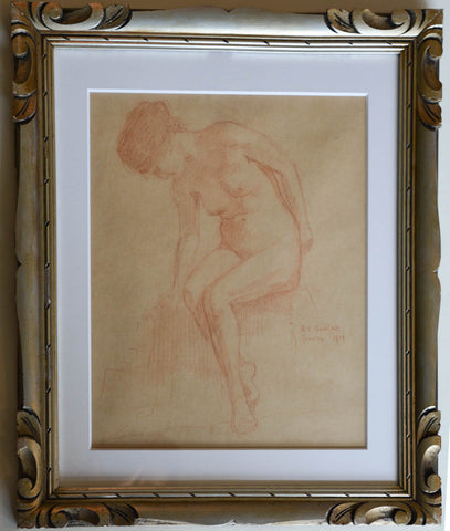 Nude Sanguine Drawing