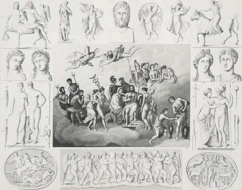 HECK GREEK GODS ENGRAVING, PLATE 18