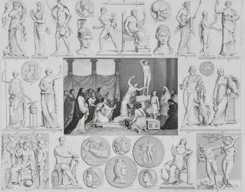 HECK GREEK GODS ENGRAVING, PLATE 17
