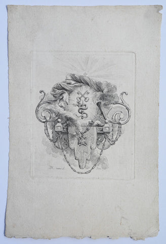 18TH CENT. FRENCH HERALDIC ENGRAVING