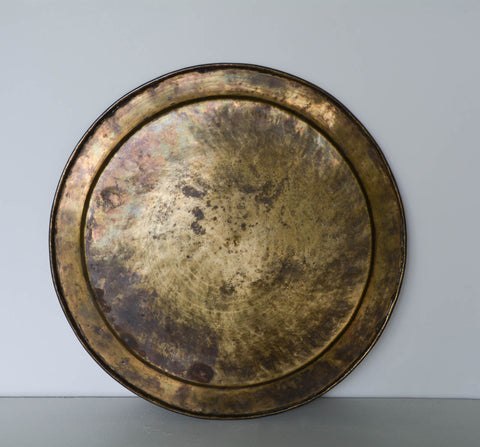 Vintage Engraved Brass Tray / Plate