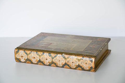 Large Florentine Faux Book Box - Dante's Inferno
