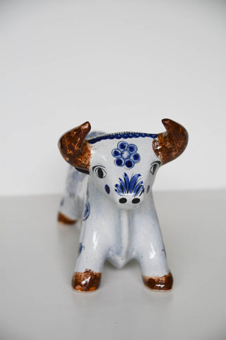Vintage Mexican Pottery Bull