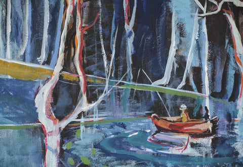 FISHERMAN IN THE EUCALYPTUS FOREST