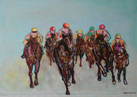 Expressionist Horse Race