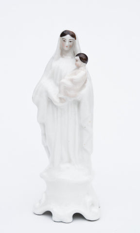 Antique Porcelain Virgin Mary and Child