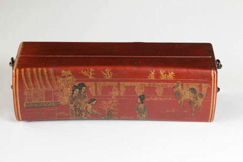 Red Chinese Pillow Box