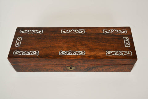 Antique Rosewood Glove Box