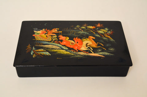 Russian Hand Painted Troika Box